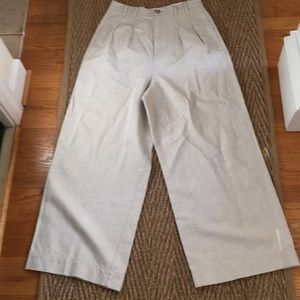 ☀️☀️Free People neutral linen pants size 10☀️